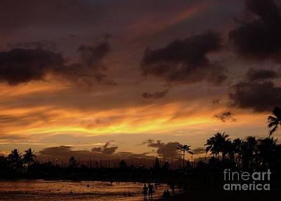 A Hawaiian Sunset Art Print by Mel Steinhauer