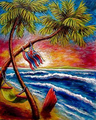 Painting - A Hawaiian Tale  by Sebastian Pierre