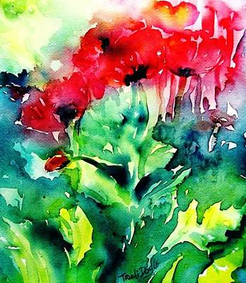 Painting - A Haze Of Poppies by Trudi Doyle