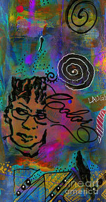 Mixed Media - A Healing Potion Called Color by Angela L Walker