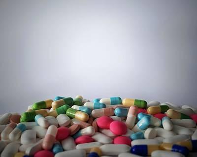 A Heap Of Medication Art Print by Robert Brook