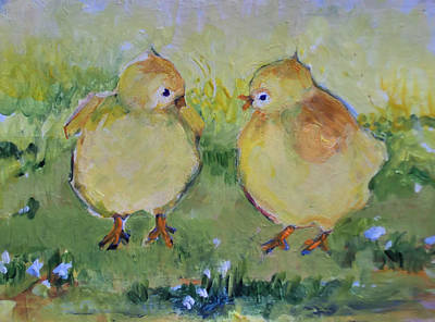Painting - A Heated Conversation by Diane Ursin