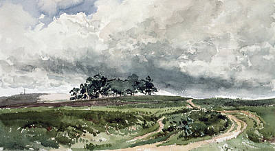 Collier Painting - A Heath Scene by Thomas Collier