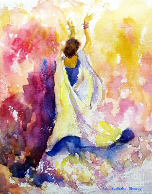 Painting - A Heavenly Dancer by Asha Sudhaker Shenoy