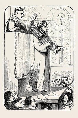 A Heretic Doing Penance Art Print by English School