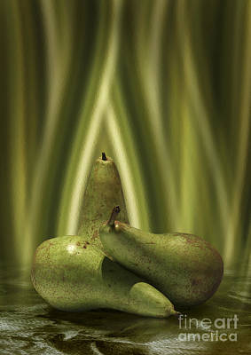 Digital Art - A Hidden Pear by Johnny Hildingsson