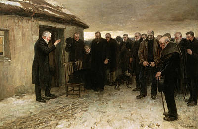 A Highland Funeral Print by Sir James Guthrie