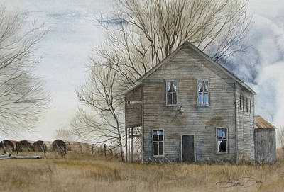 A-highway General Store Art Print by Denny Dowdy
