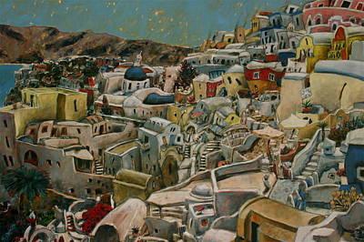 Painting - A Hillside Concert by Joe Jaqua