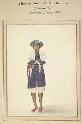 Bard Photograph - A Hindoo Bard by British Library