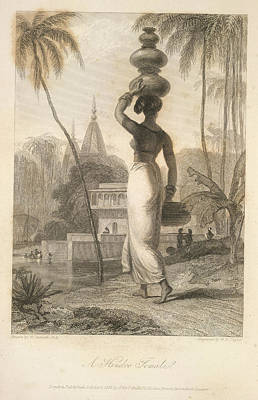 Etc. Photograph - A Hindoo Female by British Library