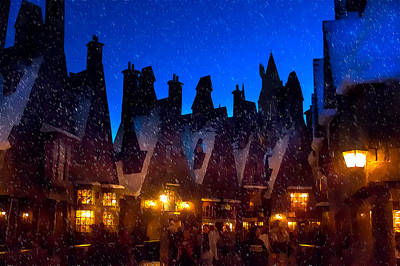 Photograph - A Hogsmeade Christmas Blank by Mark Andrew Thomas