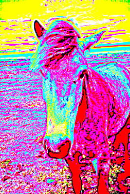 A Horse Comes To Me In A Dream Tells Me To Stay With Her  Art Print