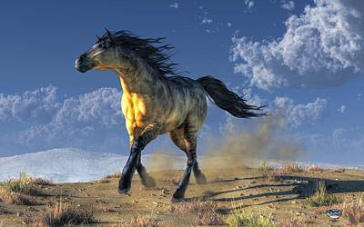 Digital Art - A Horse In The Desert by Daniel Eskridge