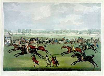 A Horse Race Art Print by British Library