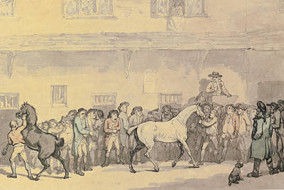 A Horse Sale At Hopkins' Repository Art Print by Celestial Images