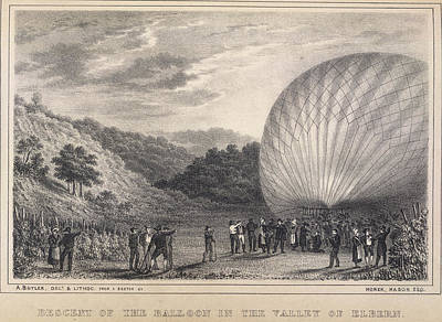 Hot Air Balloon Photograph - A Hot-air Balloon by British Library