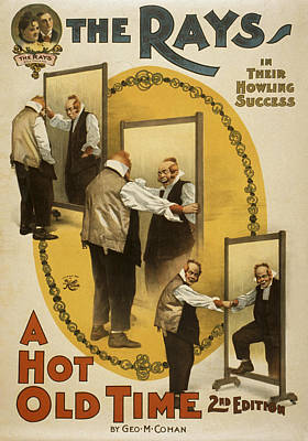 Mirror Drawing - A Hot Old Time by Aged Pixel