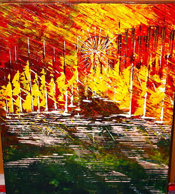 Painting - A Hot Summer Day.- Sold by George Riney