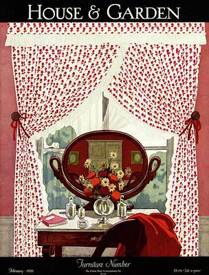 Photograph - A House And Garden Cover Of A Mirror by Pierre Brissaud