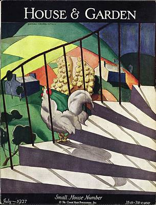Cubist Photograph - A House And Garden Cover Of A Rooster by Bradley Walker Tomlin