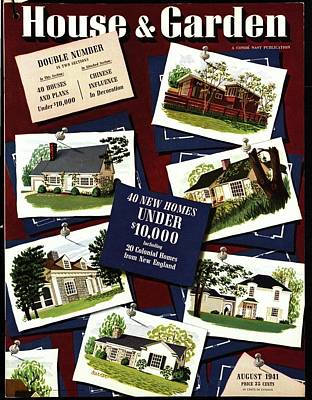 1940s Fashion Photograph - A House And Garden Cover Of Houses by Robert Harrer