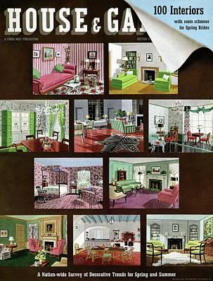 A House And Garden Cover Of Interior Design Art Print