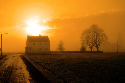 Intervals Photograph - A House By The Road by Tommytechno Sweden
