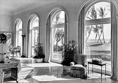 Architecture Photograph - A House In Palm Beach by Samuel H. Gottscho