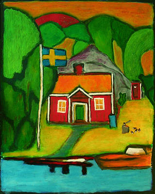 A House In Sweden Art Print by Zeke Nord