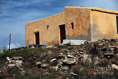 Photograph - A House On Delos by John Rizzuto