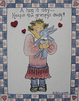 A Hug A Day Art Print