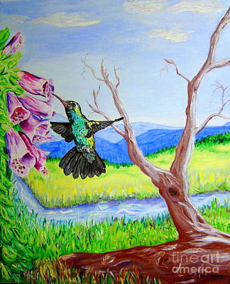 Painting - A Hummingbirds Day by Lisa Rose Musselwhite
