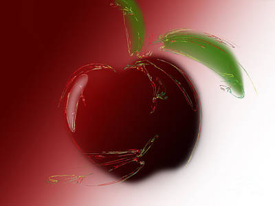 Digital Art - A Is For Apple 4 by Andee Design