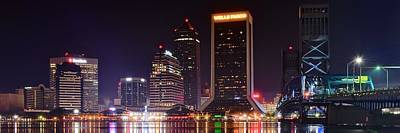 Photograph - A Jacksonville Night Panoramic by Frozen in Time Fine Art Photography