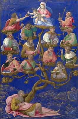 Jesse Painting - A Jesse-tree by Girolamo Genga