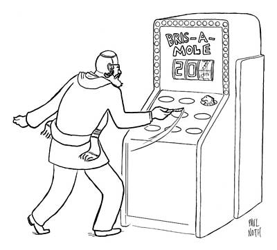 Mole Drawing - A Jewish Man Wielding A Scalpel Is Playing A Game by Paul Noth