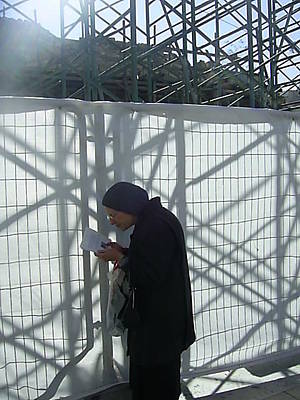 Photograph - A  Jewish Woman Praying At The Wailing Wall by Esther Newman-Cohen