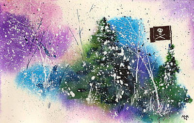 Winter Solstice Wall Art - Painting - A Jolly Roger Holiday by Nelson Ruger