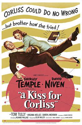A Kiss For Corliss, Us Poster, David Art Print by Everett