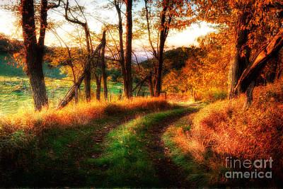 Blue Ridge Parkway Painting - A Kiss Of Fall Colors II - Blue Ridge Parkway by Dan Carmichael