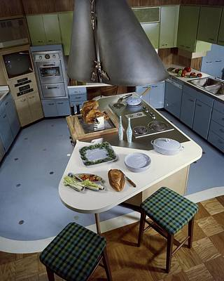 Tableware Photograph - A Kitchen Designed By Ralph & Jane Bonnell by George De Gennaro