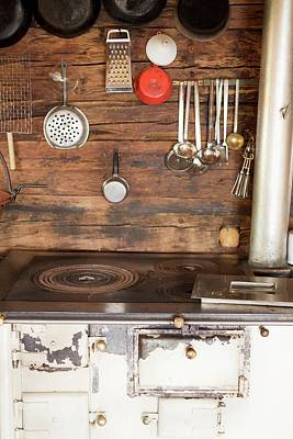 Wooden Ware Photograph - A Kitchen In An Alpine Chalet by Eising Studio - Food Photo and Video