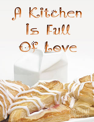 Digital Art - A Kitchen Is Full Of Love 11 by Andee Design