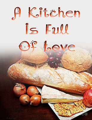 Digital Art - A Kitchen Is Full Of Love 15 by Andee Design