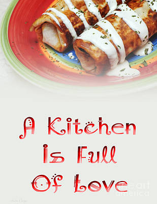 Digital Art - A Kitchen Is Full Of Love 2 by Andee Design