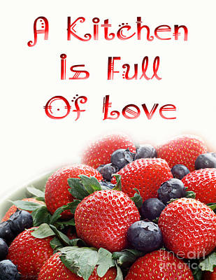 Digital Art - A Kitchen Is Full Of Love 9 by Andee Design