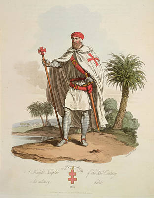 A Knight Templar Art Print by British Library