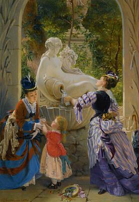 Charles Digital Art - A La Fontaine by Charles Edouard Boutibonne