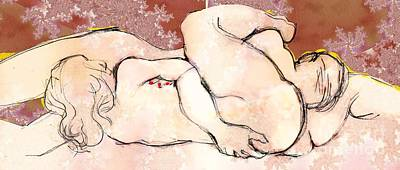 Painting - A La Kama Sutra by Carolyn Weltman